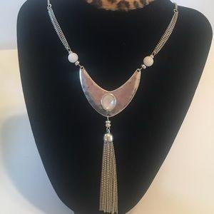 Lucky Brand Reversible Metallic Tassel Necklace